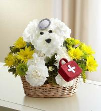 Get Well Puppy in Basket