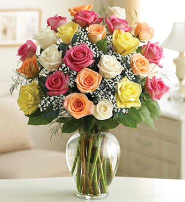 "Ultimate Eleganceâ""¢ Long Stem Assorted Roses"